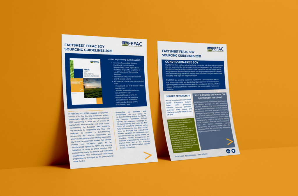 The Soy Sourcing Guidelines 2021 factsheet is now available